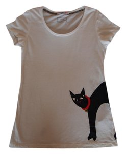 Lulu Guinness T Shirt white with black pattern