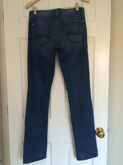 7 For All Mankind Straight Leg Jeans-Medium Wash