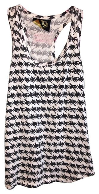 Item - Houndstooth Checkered Racerback Black White Tank Top/Cami Size 10 (M)