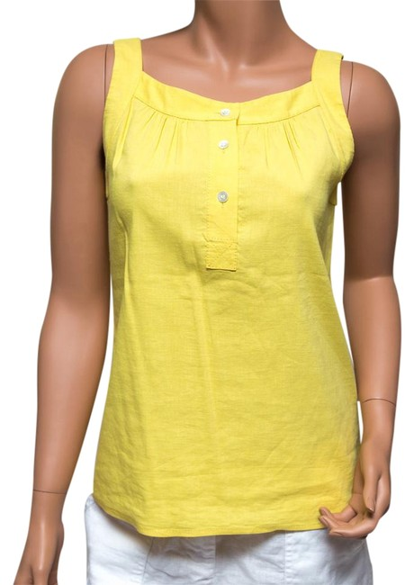 Preload https://item5.tradesy.com/images/theory-yellow-linen-summery-career-tank-topcami-size-petite-4-s-10477009-0-3.jpg?width=400&height=650