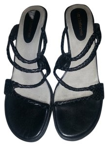 Liz Claiborne Nappa Leather Black Sandals