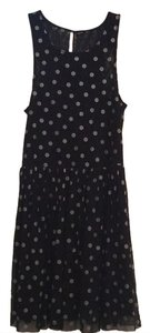 Free People short dress Black and silver Lace Sheer Polka Dot on Tradesy