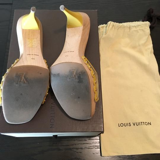 Louis Vuitton Yellow Sandals