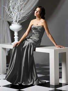 Dessy Charcoal Gray Dessy Bridesmaid Style 2749 Dress