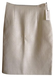 Calvin Klein All Over Textured Design Skirt White