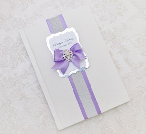 Lavender Wedding Guest Book - Personalized -