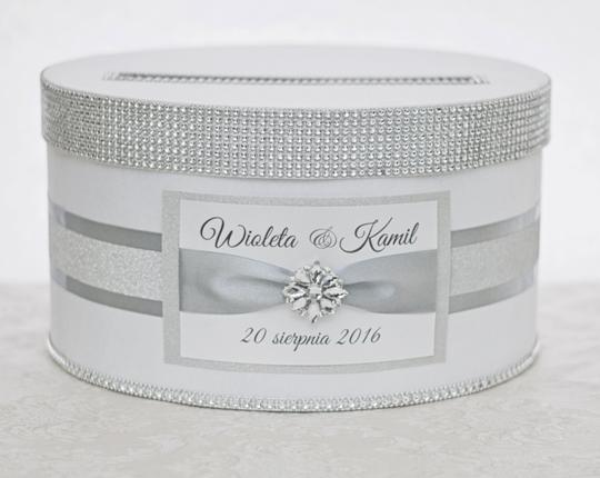 Preload https://item5.tradesy.com/images/card-box-box-money-box-with-nameplate-white-and-silver-glitter-other-10477969-0-0.jpg?width=440&height=440