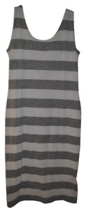 All American Moose short dress Grey/White Strip on Tradesy