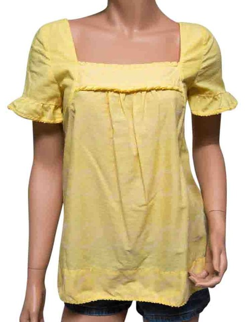 Preload https://item3.tradesy.com/images/juicy-couture-yellow-square-neck-feminine-ruffles-blouse-size-4-s-10478362-0-3.jpg?width=400&height=650