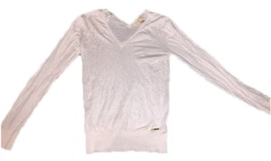 Michael Kors Sweater Mk V-neck Top White