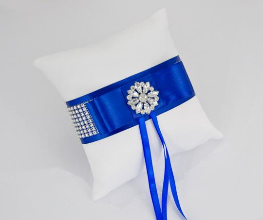 White and Blue Set - Card Box Ring Pillow Guest Book Basket Girl - Navy Ceremony Decoration