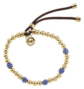 Michael Kors LAST One..Gold Tone Bead Sapphire Fireball Stretch