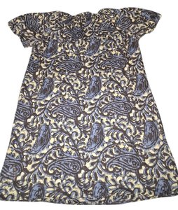 Michael Kors short dress Blue - floral Shoulder on Tradesy