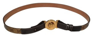 Gucci Authentic Brown Coated Canvas Gucci Belt Size 96 / 32