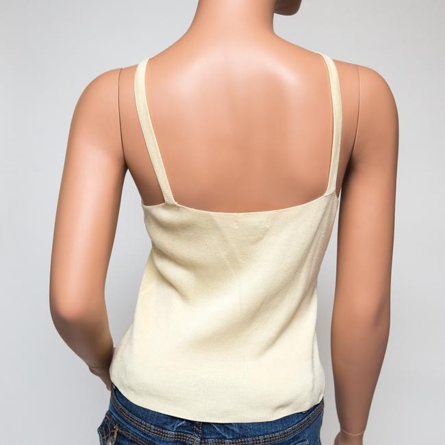 Tocca Silk Woven Shimmery Top Yellow