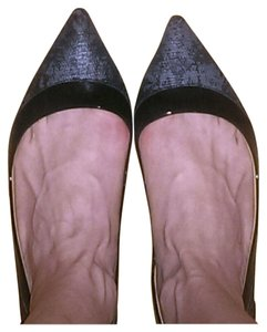 Diane von Furstenberg Black and Gray Pumps