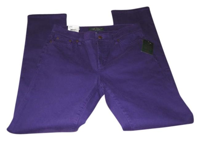 Item - Purple Dark Rinse By Modern Straight/Slimming Fit Pants Straight Leg Jeans Size 29 (6, M)