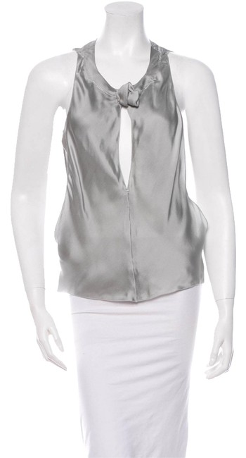 Preload https://item4.tradesy.com/images/rochas-silver-blouse-size-2-xs-10480813-0-1.jpg?width=400&height=650