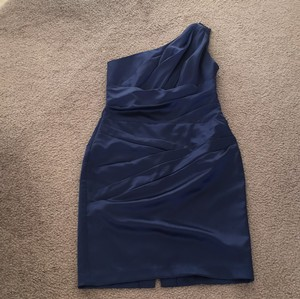 David's Bridal Navy Blue Dress