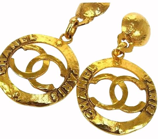 Chanel RARE Chanel Logo Earrings