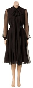 Other short dress Brown Vintage Chiffon Women Medium Chiffon Bowtie on Tradesy