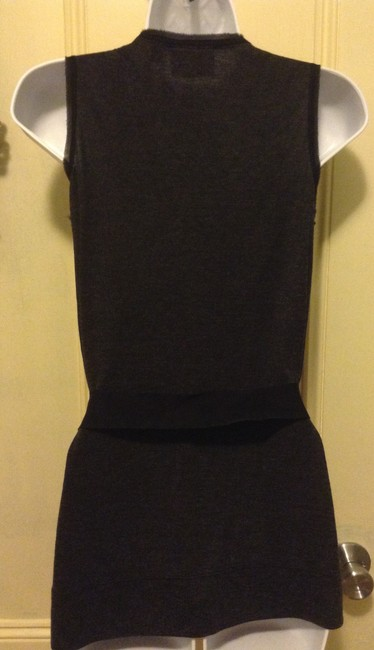 Simply Vera Vera Wang Top Gray / Black