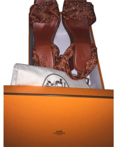 Hermès Orange/brown Wedges