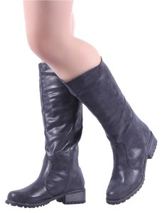Tall Edgy black Boots