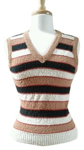 Givenchy Striped Vintage Vest Sweater