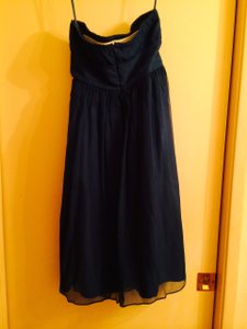 J.Crew Blue Silk Chiffon Emily Feminine Bridesmaid/Mob Dress Size 2 (XS)