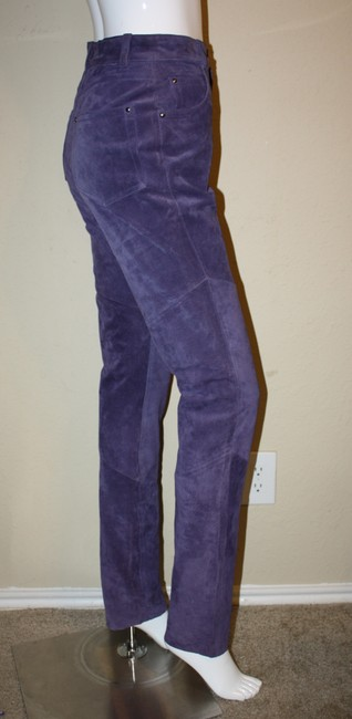Wilsons Leather Suede Suede Jeans High Waist Jeans 80s Jeans High Waisted Jeans Suede Pink Suede Trousers Skinny Pants Purple