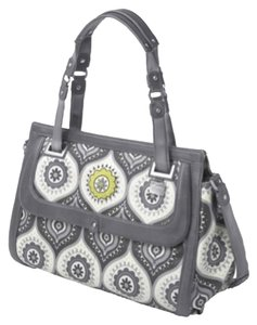 Petunia (Petunia Pickle Bottom) Soho Handbag Weekender Carry-on Designer Trending Vera Bradley Vegan Nwt Bnwt Overnight Soho Satchel in Pewter Pattern
