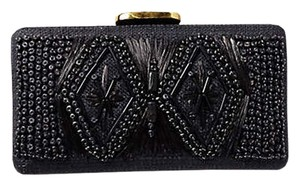 Tommy Bahama Black Embellished Cancion Clutch