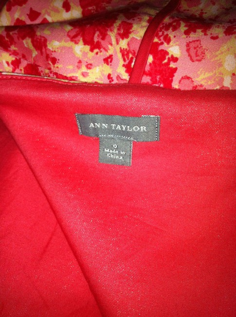 Ann Taylor short dress Pink Floral Petite 00 Classic Strapless 1950s Floral Pink Cotton Cotton on Tradesy