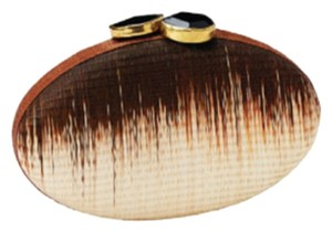 Tommy Bahama Brown Matte Ombre Oval Brown Ombre Clutch