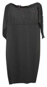 Alexander McQueen Three Quarter Button Knee Length Dress