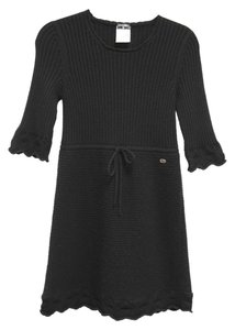 Chanel Knit Sweater Three Quarter Sleeve Dress