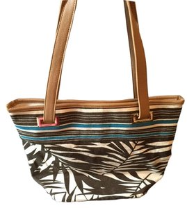 Tommy Bahama Brown Stripe Palm Tote in Brown/White