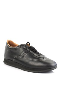 Herms black leather Athletic