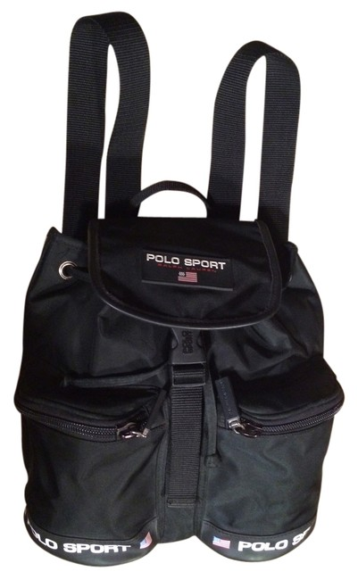Item - Polo Sport Red Black White Canvas Backpack