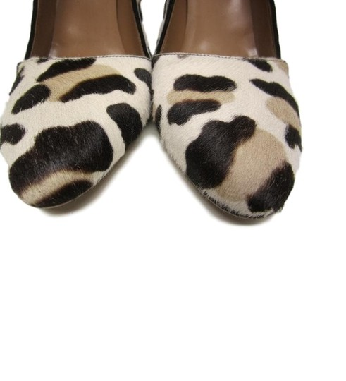 ALAA Leather Ponyhair Leopard Pumps