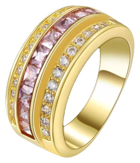 Preload https://item5.tradesy.com/images/yellow-gold-filled-pink-topaz-wedding-band-ring-10483849-0-1.jpg?width=440&height=440