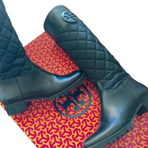 Tory Burch Riding BLACK ON BLACK Boots