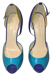 Audrey Brooke Dark blue, light blue, green Formal