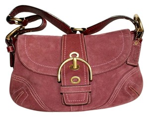 Coach Leather Suede Handbag Shoulder Bag