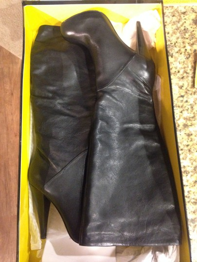 Dolce Vita Leather Leather High Heel Leather Black Boots
