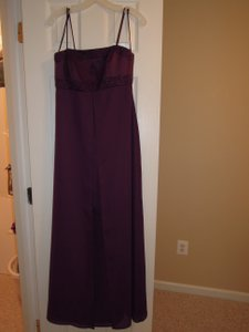 David's Bridal Plum 7289 Dress