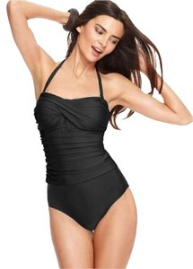 Tropical Honey Tropical Honey Women's 1 Piece Slimming Swimsuit- Black-12