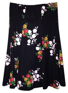 Floral Cabbage Rose Flower Skirt