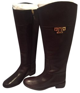 Tory Burch Joanna Riding Brown Boots